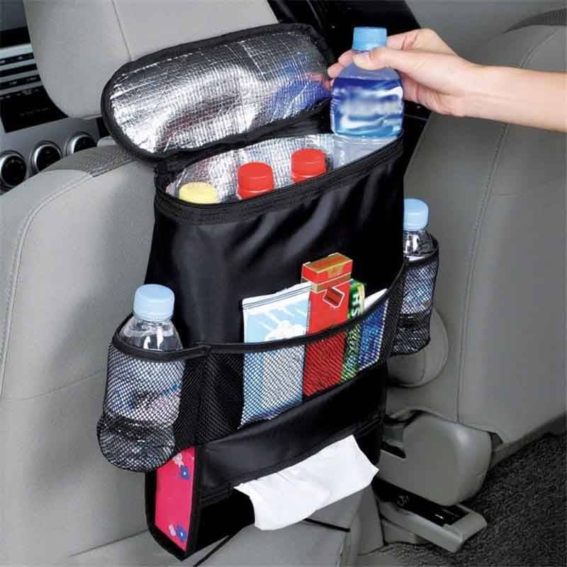 Car Back Seat Organizer With Cooler Car Organizers Color : Black