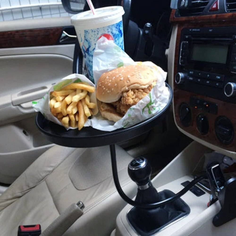 Adjustable Vehicle Food Drink Tray Car Accessories Color Name : QM206896-BK1|QM206896-WH1